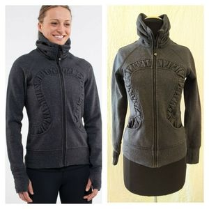 Lululemon Cuddle Up Jacket Heathered Black Sparkle